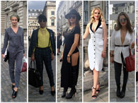 Looks do público na semana de moda de Londres